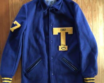 Wool letterman jacket
