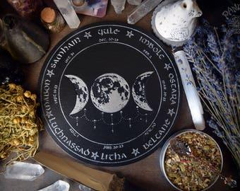Wheel of the Year, Altar pentacle, Triple Goddess, Triple Moon