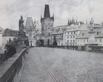 Fine Art Black & White Photography of the Charles Bridge in Prague