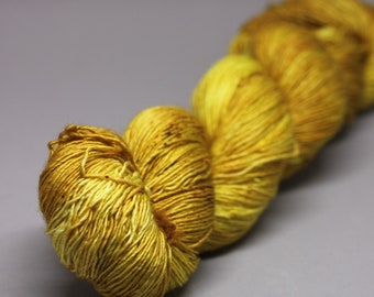 poupon- Hand Dyed Yarn - Silky High Tiny Single Ply Twist Sock- 70/30 Superwash Merino/Silk - {poupon}