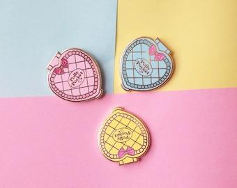 PACK OF 3! - Polly Pocket hard enamel pins