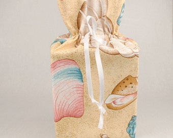 Seashells Tissue Box Cover/Kleenex Box Holder, Seashells Bathroom Accessories/Bathroom Decoration.