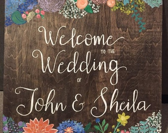 Personalized Wooden Wedding Sign