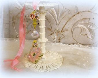 Gérard bonbons un d'un assemblage vintage genre chambre ornement vintage parapluie tissu decopaged pendalogue français vintage cristal rose bleu