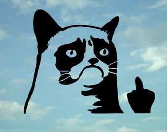 Grumpy Cat Driver Decal