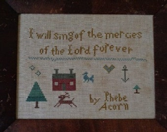 Primitive Cross Stitch Pattern MERCIES of the LORD PDF