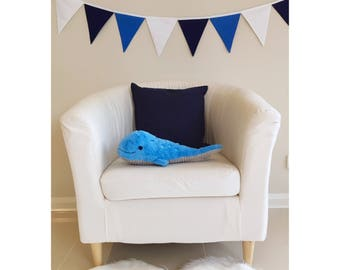 Blue ombre Boys Fabric Bunting Banner Flags