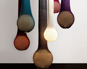 Knitted hanging light,Hanging light,Pendant light, Ceiling light fixture