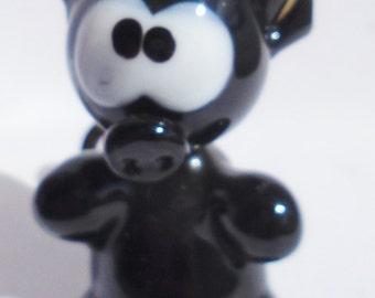 """Handmade Art Glass Figurine """"Devil"""""""