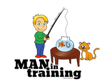 Man in Training Fishing T-Shirt or Onesie