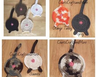 Cat Butt Coasters, Kitty Coasters, Cat Coaster