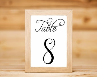 Wedding table numbers. Table number Signs. Elegant Wedding Table numbers. Wedding Table Decor. FRAME NOT INCLUDED. Wedding table Cards.