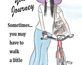 Embrace Your Journey...  Encouragement   Greeting Card