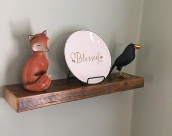 Rustic shelf, reclaimed wood, floating shelf, Barn beam, barn wood,  Reclaimed shelving, barnwood, Reclaimed shelf