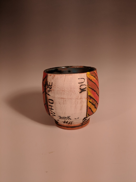 Handmade Ceramic Tea Bowls, Story Cups - Who Are You