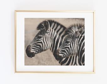 Zebra Print, Zebra Printable Wall Art, Sepia art print, Sepia Photography, Zebra art, Black and white Decor, Zebra print decoration, Stripes