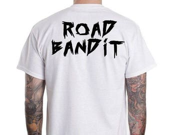 ROAD BANDIT T-SHIRT / Biker - Tshirt  / Premium Quality ! - Made in London / Fast Delivery to the Usa , Canada , Australia & Europe !