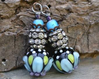 Spring Bling Lampwork Earrings