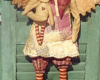 The Country Cupboard Primitive Folk Art Raggedy Ann Angel Doll Craft Sewing Pattern Home Decor