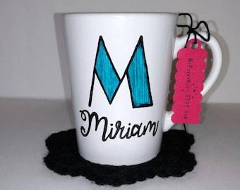 Custom Hand Painted Monogrammed Name Mug - Monogram Mug - Custom Mug - Name - Personalized Name Mug - Unique Gift - Birthday