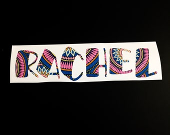 """Large Name Decal! 10-11""""L"""