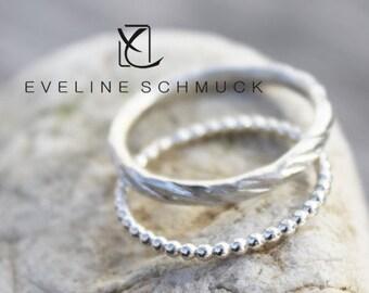 stacking rings  boho silver rings 925 hammered rings