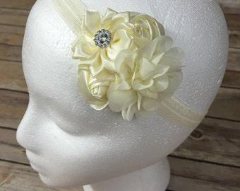 Ivory mini flower headband