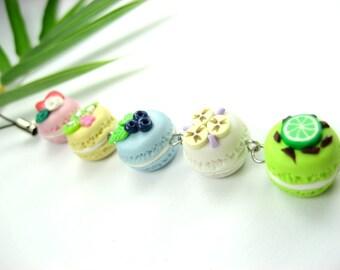 Fruit Macaron Planner Charm, Planner accessories, French macaron charm, cute food, polymer clay, phone charm, kawaii, zipper pull, bag charm