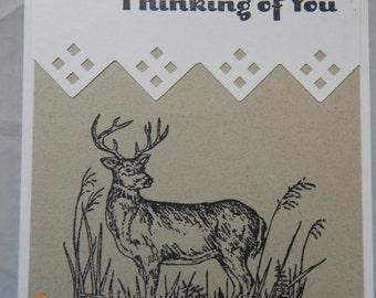Handmade Deer Thinking of You Card