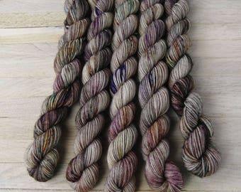 Hand Dyed Sock Yarn - Superwash Merino - mini skein - minis - Yarntoyou - SOCK MERINO - Stranger