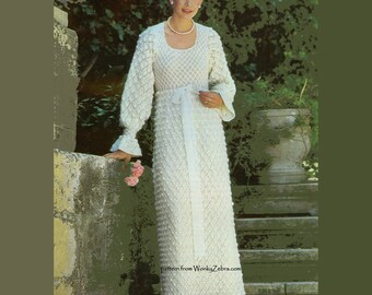 Vintage Knit Pattern 188 PDF Wedding Dress from WonkyZebra