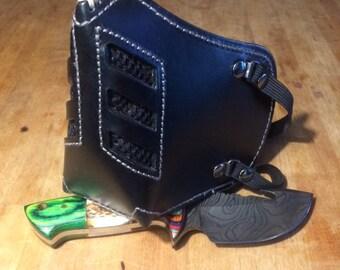 "Leather MasK ""killer bug"" [Legend motorcycle 3] by SanDiegoChopper (black stitching leather grey)"