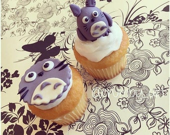 Totoro Cupcake toppers