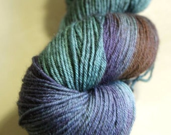 A Hint of Autumn Blue Faced Leicester Sock Weight Yarn