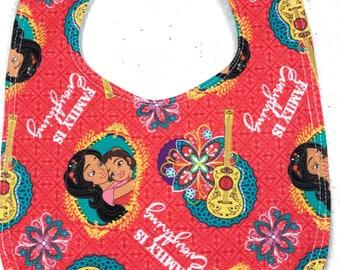 Elena of Avalor Baby Bib - Infant Bib - Dribble Bib - Disney Baby - Baby Shower Gift