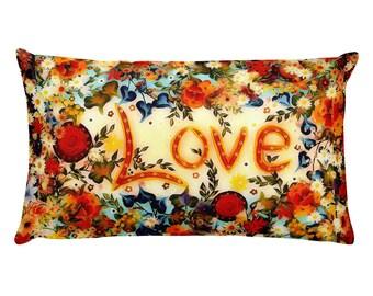 Love Orange Pillow