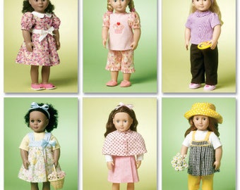 McCalls 6526- Sewing pattern for 18 Inch Doll Clothes- Fits American Girl Dolls