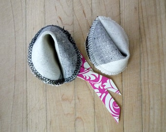 Fabric Fortune Cookies - Gift Set, Black and White Cookie, Love Notes, Unique Valentine, Gluten Free, Customizable, Gourmet, Ready to Ship