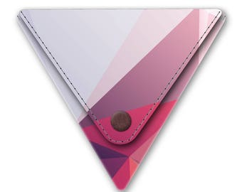 HUGO Tyvek Triangle Coin Purse Pouch Vegan Product Men Women