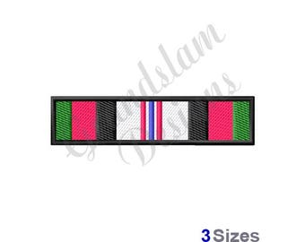 Afghanistan Campaign Ribbon - Machine Embroidery Design