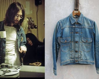 Wrangler 11mj Stone Wash Denim Jacket red line selvedge Japan