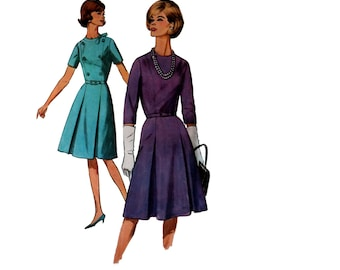 60s uncut Fit and Flare Dress pattern vintage 36-28-38 madmen day dress pattern simplicity 5581