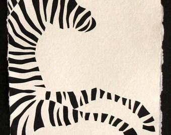 ZEBRA Papercut - Hand-Cut Silhouette