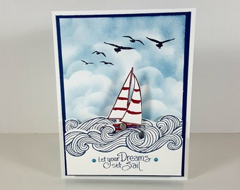 Congratulations Card - Sailboat Card - Interactive Card