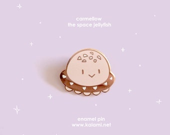 Carmellow the Space Jelly Enamel Pin