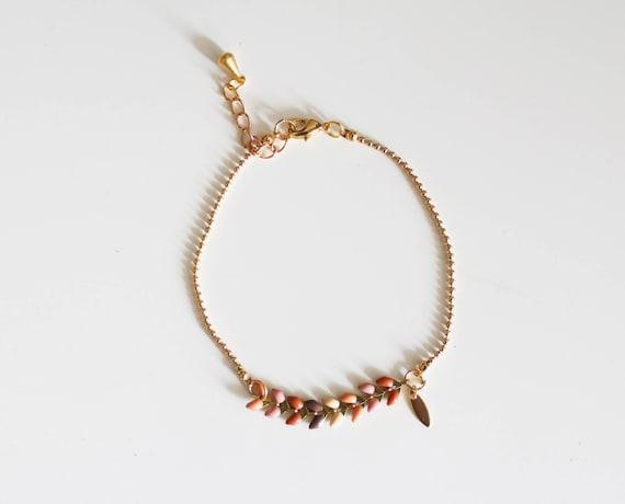 Fine bracelet, chain bracelet spikes, friendship bracelet, boho chic bracelet
