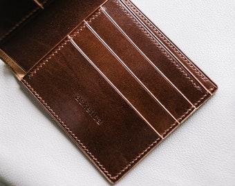 Bifold Wallet, Handstitched Wallet, Leather Wallet, Men's Wallet, Bespoke Wallet, Gift For Him