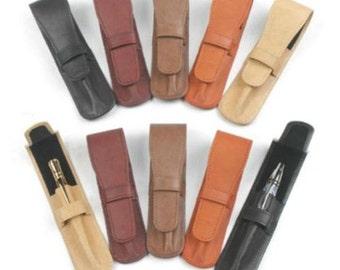 Leather Pen Pouches, five colors