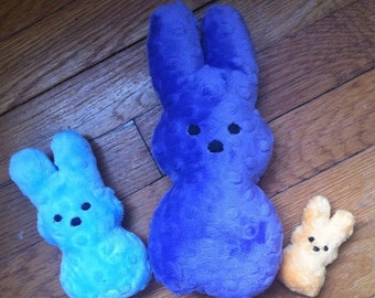 Plush Stuffed Marshmallow Easter Bunny Toy , Available in Three Sizes , Perfect for Easter Baskets