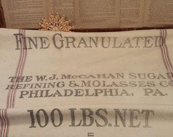 Vintage Sugar Sack, McMahon Sugar Philadelphia, PA
